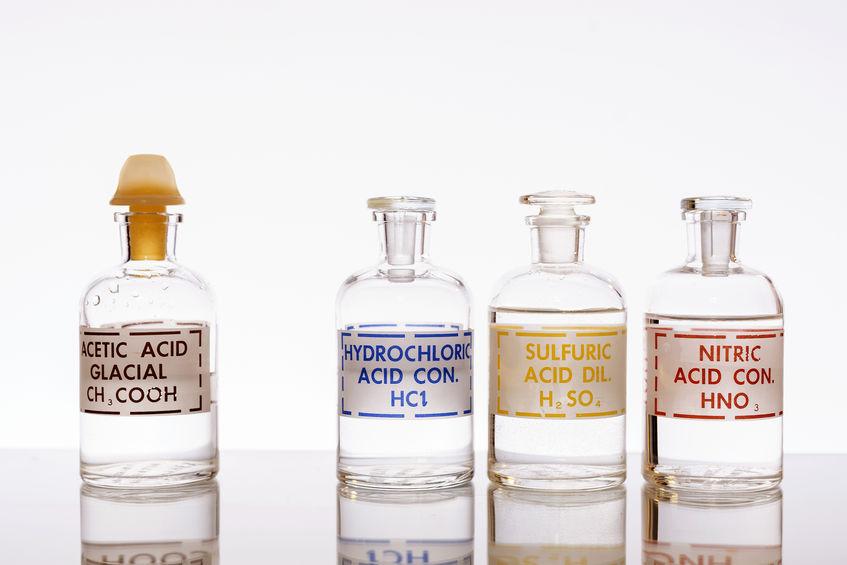 Productos químicos ácidos
